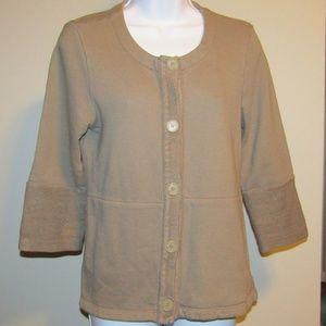 James Perse Los Angeles Brown Sz 3 Sweater Jacket